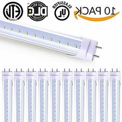 10 Pack - T8 LED Tube Light 4ft 48'',18W,5000K , 2,000 Lumen