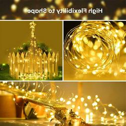 100/200LED Solar String Lights Waterproof Copper Wire Fairy