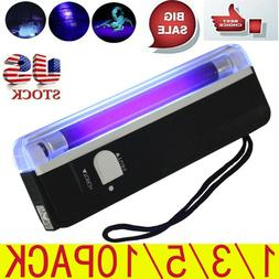 10PCS Handheld UV Light Torch Plastic Portable Blacklight Wi