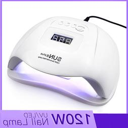 120W Nail Dryer LED Nail <font><b>Lamp</b></font> For Manicu