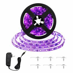 16.4ft LED UV Black Light Strip Kit, 12V Flexible Black Ligh