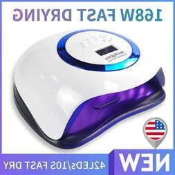 168W Nail Lamp UV LED Light Professional Nail Dryer 10S Fast