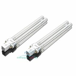 2 PCS UV Light Bulbs 13W Watt G23 Base for Aquarium UVC Ster