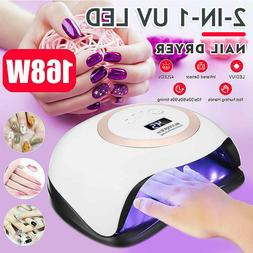 2-in-1 UV/LED 168W Nail Dryer Lamp Electric Polish Gel Curin