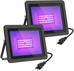 WELKEY PLUS 2 Pack 50W UV LED Black Light Flood Light with P