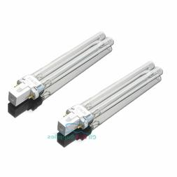 2 PCS UV Light Bulbs 9W Watt G23 Base for Aquarium UVC Steri