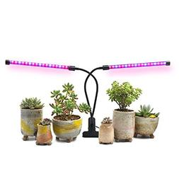 AMAZINGCATS  18W Dual Head Timing Grow Light, Growing Lamp,