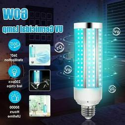 2020 New UV 60W Germicidal Lamp LED UVC E27 Disinfection Lig