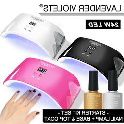 24W LED Nail Dryer UV Lamp Gel Nail Polish Fast Curing Light