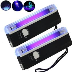 2PCs Handheld UV Black Light Torch Portable Blacklight With