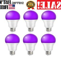 3 Pack 12W UV LED Black Light Bulbs,UVA Level 380-420nm E26