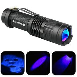 1/2x UV Ultra Violet LED Flashlight Blacklight Light 365nM I