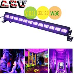 36W UV Stage Light 12 LED DJ Wall Wash Black Light Effect Ba