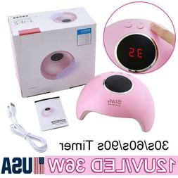 36W UV LED Nail Dryer Polish Lamp Gel Acrylic Curing Light S