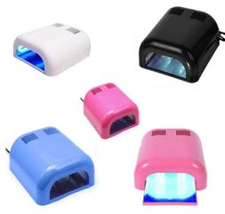 36W UV Light Lamp Nail Acrylic Gel Manicure Dryer Salon w/Bu