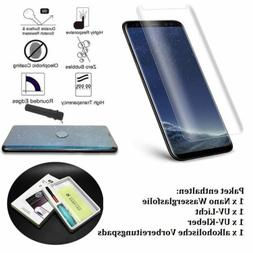 3D Liquid Tempered Glass Screen Protector +UV Light For iPho