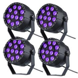 4X 12 LED Blacklight UV Black Light Fixture Par Can Stage Di