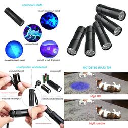 5 UV Ultra VIOLET Blacklight 9 LED Flashlight Torch Light Ou