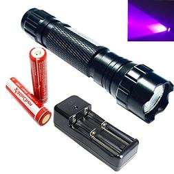 MinChen 501B UV LED Flashlight 5 Mode 395-410nm Rechargeable