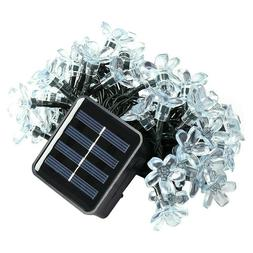 50LEDs Outdoor Waterproof Solar Power Peach String Light Yar