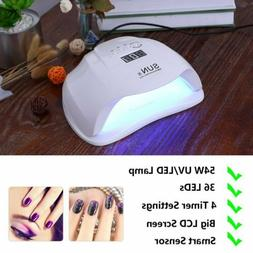 54W SUNX LED UV Nail Lamp Light Gel Polish Dryer Cure Nail D