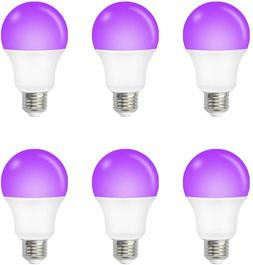 6PACK UV Light Bulb, LED UV Bulb - 12W E26 UV-A Medium Base
