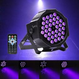 72W 36 LED UV Black Light DMX Par Can Stage Lighting Disco C