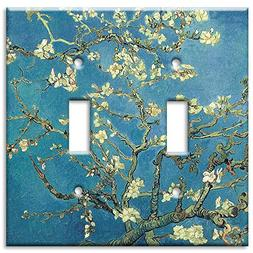 Art Plates - Van Gogh: Almond Blossoms Switch Plate - Double