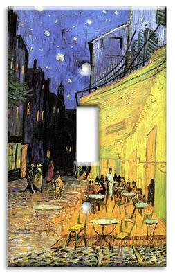 Art Plates - Van Gogh: The Cafe Terrace Switch Plate - Singl