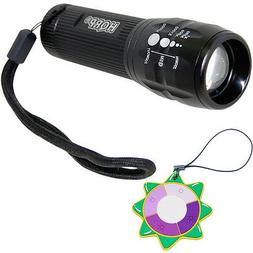 HQRP UV LED Ultra Violet Zoomable Black Light for Antiques /