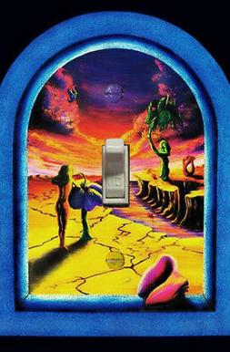 Light Switch Cover Blacklight Trippy Psychedelic cool neon p