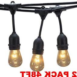 Generalman 2 Pack 48 Ft Dimmable Outdoor String Lights,with