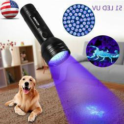 Aluminum UV Light Violet Flashlight 51 LED Blacklight Torch
