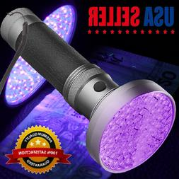 The Wolf Moon® Black Light Torch UV Flashlight 100 LED Blac
