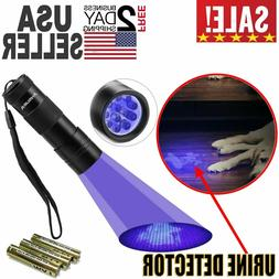 Black Light UV Flashlight LED Urine Detect Lamp Light Dog Ca