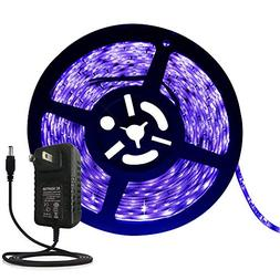 ANJAYLIA Black Light UV LED Strip 16.4ft 300leds Blacklight