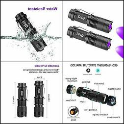 2Pack Black Light LED Flashlight, GKG Scorpion UV Flashlight