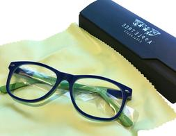 Blocking Blue Light &Harmful UV Eyeglasses with Clear Lens