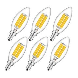 CRLight 6W 700LM Dimmable LED Candelabra Bulb 2700K Warm Whi