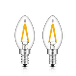 CRLight 1W 150LM LED Candelabra C7 Night Light Bulbs, 2700K