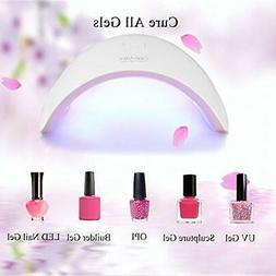 Ceenwes Nail Dryer 24W UV Light Nail Lamp with 7 PCS Nail To