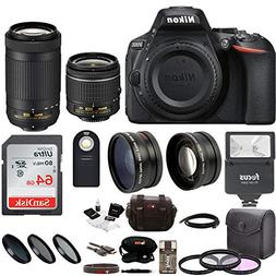 Nikon D5600 DSLR Camera with 18-55 and 70-300mm Lenses + 64G