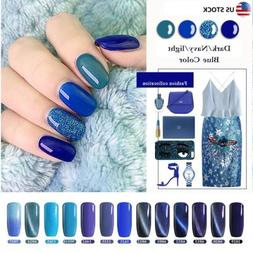 Dark/Navy/light Blue SERIES UV NAIL GEL POLISH TOP/BASE COAT