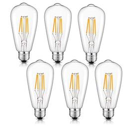 CRLight Dimmable LED Edison Bulb 4W 2700K Warm White, 400LM