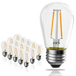 Banord 15 Pack Dimmable 2W S14 Replacement LED Bulbs, 2700K
