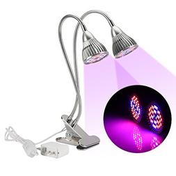 RedSun Double Head LED Plant Grow Light 360 Degree Flexible
