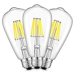 CRLight 8W 6000K LED Edison Bulb Daylight  800LM Dimmable, 8