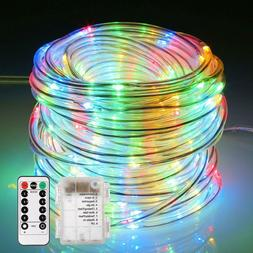 ECOWHO Fairy Lights Battery Operated, 46ft 120 LED Rope Ligh