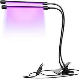 INFRAY Grow Light, Dual Head Plant Light with Timing Functio