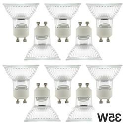 ETOPLIGHTING |10-Pack| 35 Watt GU10 Base Halogen Light Bulbs